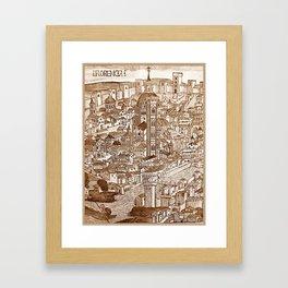 Florencia Sepia Framed Art Print