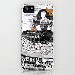 Menina of the books II iPhone Case