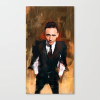 tom hiddleston Canvas Prints featuring Tom Hiddleston by Wisesnail