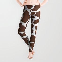 Animal Print (Giraffe Pattern) - Brown White Leggings