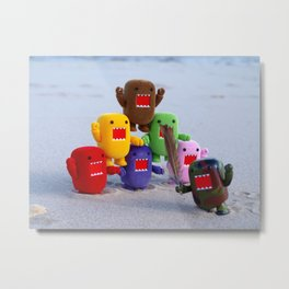 Rainbow Domos at the Beach Metal Print