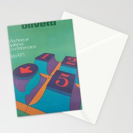 olivetti machines et systemes pour vintage Poster Stationery Cards