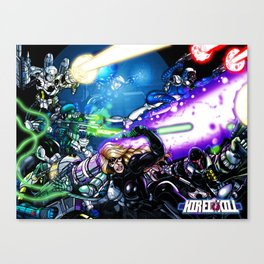 Hired Kill: Group Poster Canvas Print