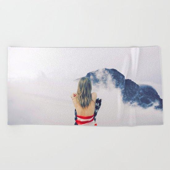 USA Girl Beach Towel