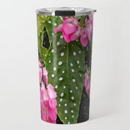 ANGEL WING PINK  BEGONIA FLOWERS Travel Mug