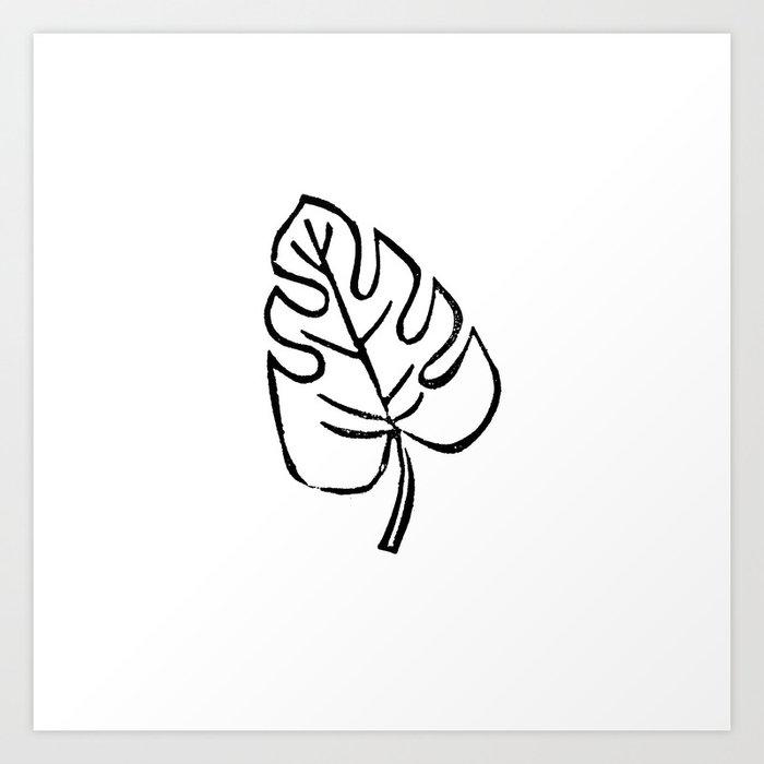 Mini Monstera Leaf Linocut Black And White Basic Art Print Minimalist Gifts Tropical Leaves Art Print By Monoo Society6 Our favorite large leaf tropical plants. mini monstera leaf linocut black and white basic art print minimalist gifts tropical leaves art print by monoo