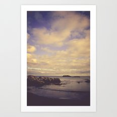 Her Dreams Stretched as Far as the Sea Was Wide Art Print