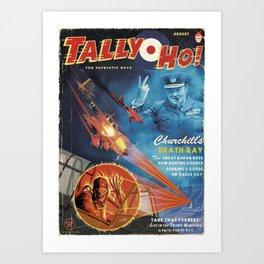 Churchill's Death Ray Art Print