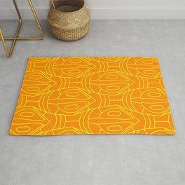 Orange and yellow lozenge pattern Rug