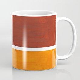 Burnt Sienna Yellow Ochre Rothko Minimalist Mid Century Abstract Color Field Squares Coffee Mug