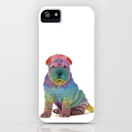 Colorful Sharpei iPhone Case