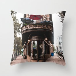 The Pickle Barrel in Chattanooga, Tennessee Throw Pillow