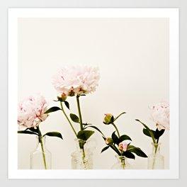 Four Friends Peony Flowers Art Print