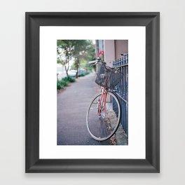 I've got a bike, you can ride it if you like...it's got a basket... Framed Art Print