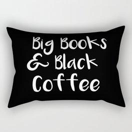 Big Books & Black Coffee Rectangular Pillow