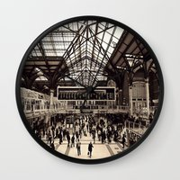 liverpool Wall Clocks featuring Liverpool Station by Roxana Lazăr