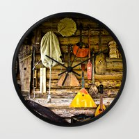 mortal instruments Wall Clocks featuring Folk musical instruments by digital2real