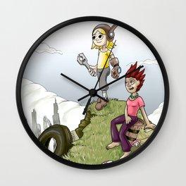 Max and Lori at the Junkyard Wall Clock