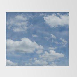 Blue Summer Sky // Cloud Photography Throw Blanket