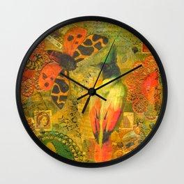 Garden Tiger Moth Wall Clock