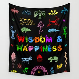 Wisdom and Happiness Wall Tapestry