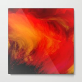 Fire, Artwork looks like an explosion Metal Print
