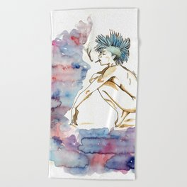 Punky Beach Towel