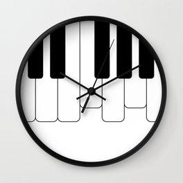 Piano keys. Playing Piano #society6 #decor #buyart #artprint Wall Clock