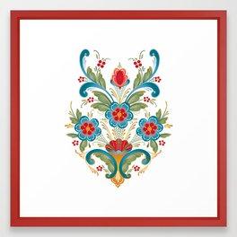 Nordic Rosemaling Framed Art Print