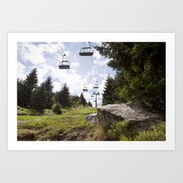 Ještěd Mountain Art Print