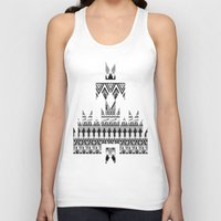 whisky Tank Tops featuring WHISKY AZTEC B/W  by Kiley Victoria