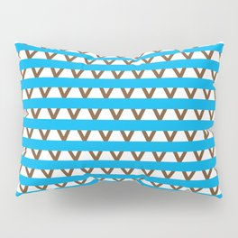 Paranoia (Baby Blue and Brown) Pillow Sham