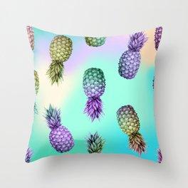 Pineapple Glow Throw Pillow