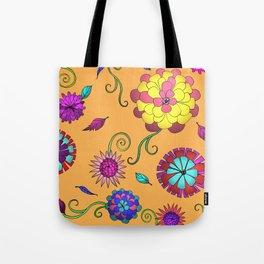 Crazy Daisy vitamin C pattern Tote Bag