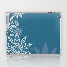 Holly tree snowflake Laptop & iPad Skin