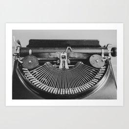 Typewriter Strikers Art Print