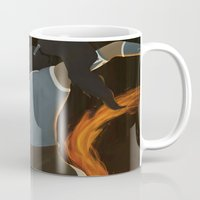 legend of korra Mugs featuring Korra by charcola