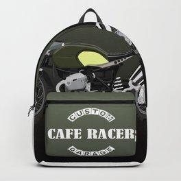 vintage motorcycle poster vector illustration Backpack