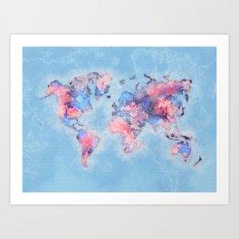 world map 110 #worldmap #world #map Art Print