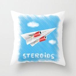 Paper plane on steroids Throw Pillow