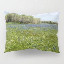 Field of Camas and Dandelions, No. 1 Pillow Sham