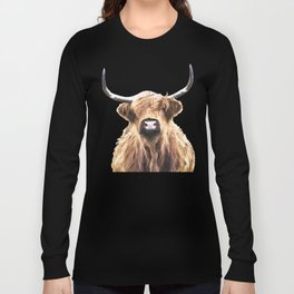 Highland Cow Portrait Long Sleeve T-shirt