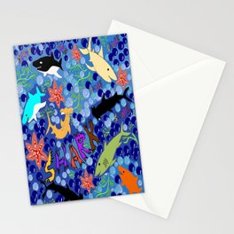 Happy Sharks Stationery Cards