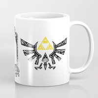 the legend of zelda Mugs featuring Zelda legend - Hyrulian Emblem by Art & Be