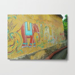 Elephant Wall Metal Print