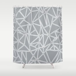Ab Blocks Grey #2 Shower Curtain