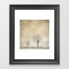 Snow Bokeh Wonderland  Framed Art Print