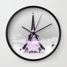 pariS Black & White + Lavender Wall Clock