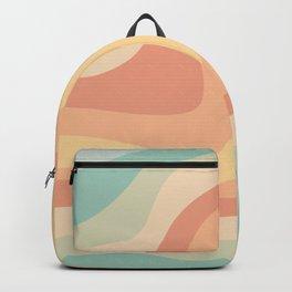 Vintage groovy waves Backpack
