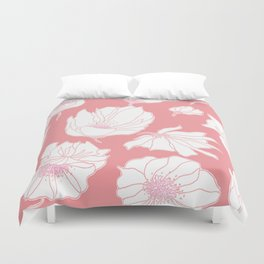 Bloomin' Pink Duvet Cover